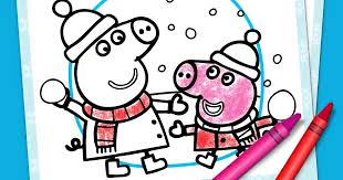 13 peppa pig printable coloring pages for kids. Peppa Pig Winter Coloring Pack Nickelodeon Parents