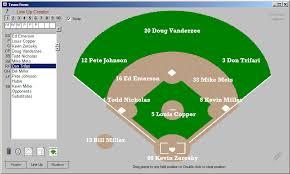 baseball lineup creator drag drop field layout
