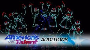Dancers With Lights On America S Got Talent Light Balance Dancers Light Up The Stage And Earn The