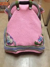 crochet car seat cover pattern crochet pattern waffle stitch car seat canopy blanket us uk
