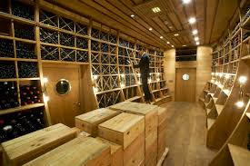 ... Unique Wine Cellar Designs Inside Your House : Wine Cellar In Luxurious  Hotel ...