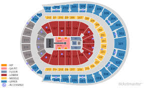 Bridgestone Arena Section 103 Row P Seat 13 Nashville