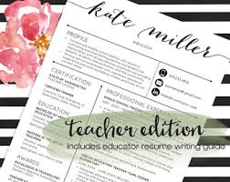 Teacher Resumes Etsy