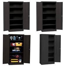 black metal storage cabinet.  Metal Item 5 Metal Storage Cabinet With Steel Locking Doors Lock Garage Shop 72 On Black C