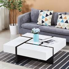 nova extendable high gloss coffee table