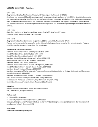 Theatre Administration Sample Resume 13 Nonprofit Executive Director