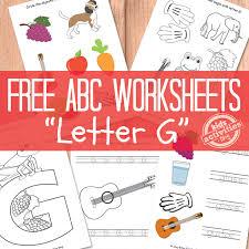 g worksheets free kids printable