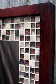 mosaic tile framed bathroom mirror new glass mosaic tile framed mirror tile framed mirror brown