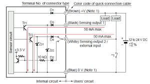 amplifier separated type digital laser sensor ls 500 i o circuit npn connector type i o circuit diagram