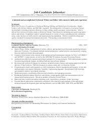 Resume Template Technical Writer Sidemcicek Com