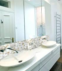 home elements mother of pearl tile glass mosaic shell tiles kitchen backsplash blue granite countertop detail mother of pearl