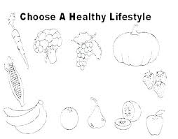 Healthy Eating Coloring Pages For Preschool Plate Page Food Pictures