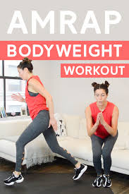 bodyweight amrap workout total body