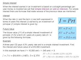 investing equations math simple interest when the interest earned in an investment is based on a