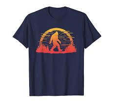 80s T Shirt Designs Amazon Com Retro Bigfoot Graphic Design Sun Silhouette 80s