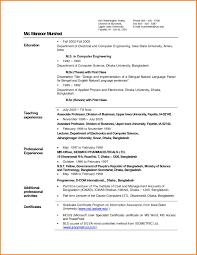 Resume For Fresher Teacher Job 24 Biodata For Teachers Format Cook Resume 21