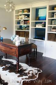 office rug. Faux Cowhide Rug In A Home Office F
