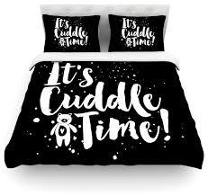 nick atkinson cuddle time black white duvet cover cotton