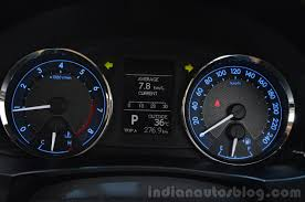 2014 Toyota Corolla Altis Petrol Review cluster - Indian Autos blog