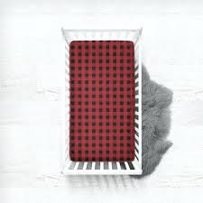red crib sheets fitted crib sheet buffalo check in red red crib by