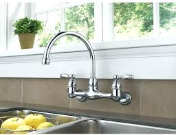 wall mounted kitchen faucet with sprayer wall mount kitchen faucet with sprayer homeremodelsite