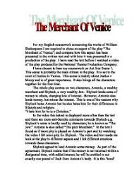act scene merchant of venice mercy and justice gcse   the merchant of venice page 1 zoom in