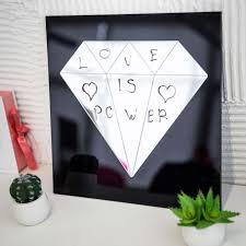 decorative wall mirror diamond black frame 69 99