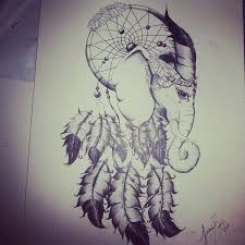 Aztec Dream Catcher Tattoo Fascinating Elephant Dream Catcher Tattoo Idea Art Pinterest Dream