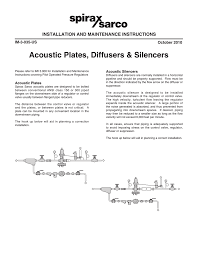 Acoustic Silencer Design Acoustic Plates Diffusers And Suppressors Manualzz Com