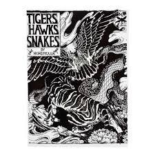 татуировка дизайн книга тигр ястребы змеи зверь татуировка рукопись коллекция