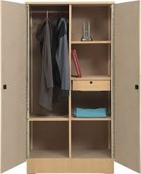 aft 2 door wooden wardrobe cupboard with mirror beige d50 x w90 x h190 cm