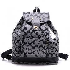 Coach Classic In Signature Medium Grey Backpacks CBI