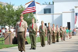 jewish scouting leaders vocal on gay inclusion the times of  scouts standing at attention during a boy scouts of america memorial day ceremony photo