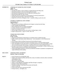 Digital Communications Resume Communication Intern Resume Samples Velvet Jobs