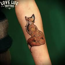 лиса тату на ноге фото значение татуировки лиса татуировку рф