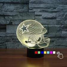 dallas cowboy light cowboy football helmet lamp 7 color changing nightlight kid sleep bulb touch table lamp