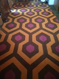 barbara shining carpet kubrick hexagon pattern