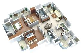 3d 3 bedroom house plans 3 bedroom home design plans simple home