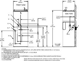 plumbing code bathroom sink drain height designs