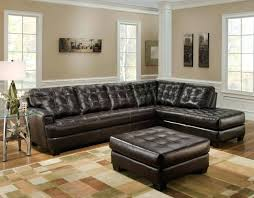 brown sectional with chaise dark brown leather tufted sectional chaise lounge sofa with ottoman brown microfiber