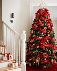 christmas trees decorated with red ribbon. Delighful Ribbon Bold Red Christmas Tree Ribbon Alt To Trees Decorated With B