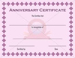 Anniversary Certificate Template Anniversary Certificate Template ANNIVERSARY CERTIFICATE TEMPLATES 2
