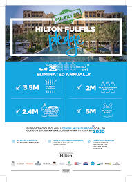 Hilton Fulfils 2018 Pledge To Eliminate Plastic Straws From