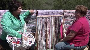 Fabric Rug Diy Rag Rug Weaving Youtube