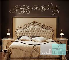 romantic bedroom wall decals. Beautiful Master Bedroom Wall Decals Trends Including Decor Ideas Romantic Always Kiss Me Goodnight Vinyl Decal Eeefe Bd A Images