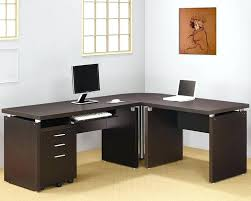 home office desk contemporary. Home Office L Desk Contemporary Shape Table With Hutch