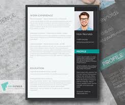 Modern Sleek Resume Templates Free Modern Professional Cv Resume Template In Minimal Style