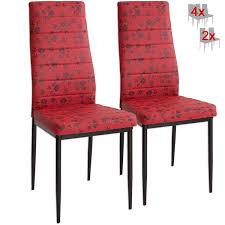 Albatros 3085 Paris 2 X Designer Stühle Rot Polsterstühle Esszimmerstühle Stuhl Set Leder