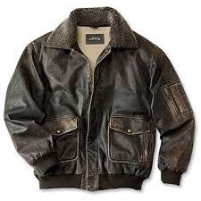 Vintage Leather Flight Jacket Orvis