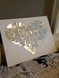 Broken Mirror Wall Art Broken Mirror Art Supplies Needed Mirror Hot Glue Gun And Hot